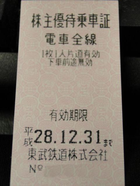 電鉄 鉄道 株主優待 切符